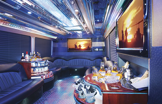 Image gallery limo bus interior design Tour bus interior design